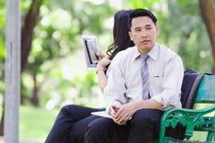 Азиатские пары дела Стоковая Фотография RF