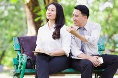 Азиатские пары дела Стоковые Фотографии RF