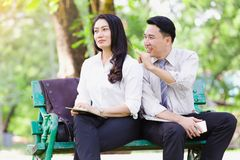 Азиатские пары дела Стоковые Изображения
