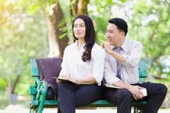 Азиатские пары дела Стоковое Изображение
