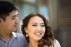 Азиатские пары совместно стоковая фотография