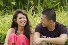 азиатские пары счастливые Стоковые Фото