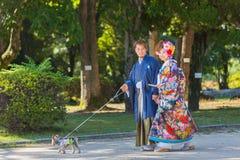 азиатские пары счастливые Стоковое фото RF