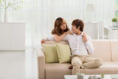 азиатские пары счастливые Стоковые Изображения