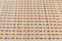 Азиатские пестротканые плетеные текстуры картины Стоковые Изображения