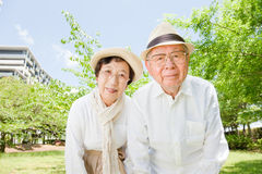 Азиатские пожилые пары стоковое фото rf