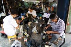 азиатские работники стоковые фото