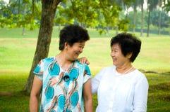 Азиатские старшие женщины стоковое изображение rf