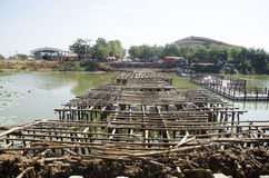 Азиатские тайские работники и мост здания построителя команды работая новый Стоковое фото RF