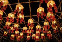 азиатские фонарики празднества Стоковые Фотографии RF
