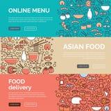 Азиатские шаблоны еды Стоковые Фотографии RF