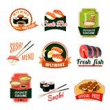 Азиатские ярлыки еды Стоковая Фотография