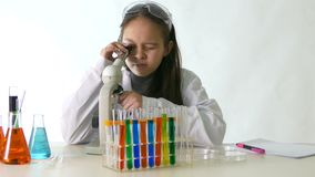 Азиатский американский ученый ребенка акции видеоматериалы