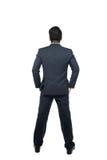 Азиатский бизнесмен от задней части - смотреть что-то над w Стоковые Фотографии RF