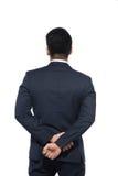 Азиатский бизнесмен от задней части - смотреть что-то над w Стоковое Фото