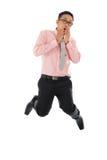 Азиатский бизнесмен получает удар стоковая фотография rf