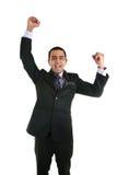 Азиатский бизнесмен празднуя Стоковое Изображение RF