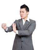 Азиатский бой бизнесмена Стоковые Изображения RF