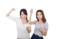 Азиатский бой женщины совместно Стоковое Изображение RF