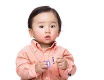 Азиатский блок игрушки игры ребёнка стоковая фотография rf