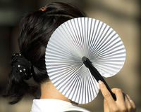 Азиатский вентилятор Стоковые Фотографии RF