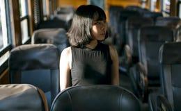Азиатский всход моды женщины стоковое фото rf