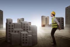 Азиатский город здания бизнесмена Стоковые Фотографии RF