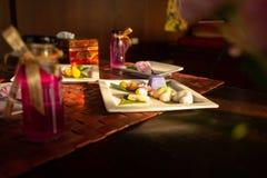 Азиатский десерт на таблице стоковые фотографии rf