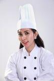 Азиатский женский портрет шеф-повара стоковые изображения rf