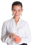 Азиатский женский профессионал с портмонем i стоковое фото rf