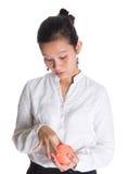 Азиатский женский профессионал с портмонем II стоковая фотография rf