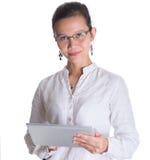 Азиатский женский профессионал с стеклами IX стоковое фото rf