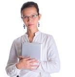 Азиатский женский профессионал с стеклами v стоковое фото rf