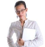 Азиатский женский профессионал с стеклами VII стоковая фотография