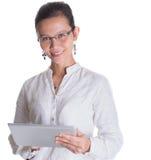 Азиатский женский профессионал с стеклами x стоковое изображение