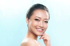 азиатский женский хороший смотреть стоковое изображение