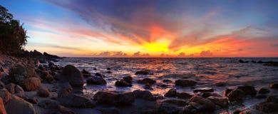 азиатский заход солнца Стоковые Изображения RF
