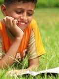 азиатский изучать мальчика Стоковая Фотография RF