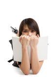 азиатский изучать девушки Стоковая Фотография