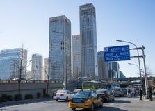 Азиатский китаец, Пекин, городской транспорт и конструкция Стоковое фото RF