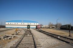 Азиатский китаец, Пекин, железнодорожный музей, положение Стоковые Изображения RF
