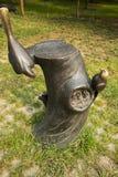Азиатский китаец, Пекин, международный парк скульптуры, скульптура, пень, птица, гнездо птицы Стоковая Фотография RF