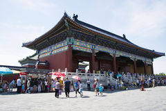 Азиатский китаец, Пекин, парк Tiantan, исторические здания Стоковое Изображение RF