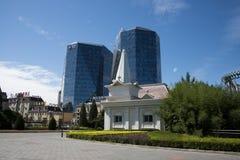 Азиатский китаец, Пекин, современная архитектура, строя Стоковые Изображения