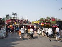 Азиатский китаец, Пекин, Shichahai, мост звона yin Стоковое Изображение RF