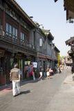 Азиатский китаец, Пекин, Yandaixiejie, коммерчески улица в старой Стоковые Изображения