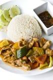 Азиатский комплект обедающего риса мяса Стоковые Фотографии RF