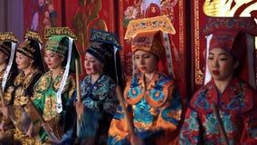Азиатский концерт Нового Года сток-видео