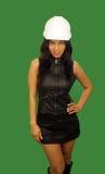 азиатский красивейший работник женщины конструкции 4 Стоковое Фото