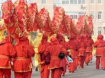 азиатский красный цвет дракона стоковая фотография